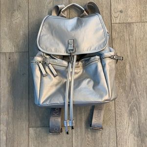 Calvin Klein small silver backpack